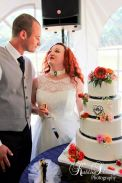 B_Smith, T&R; Cake Cutting 1; Gateau; Private Residence, Bealeton, VA; Kathleen Solarczyk Photography